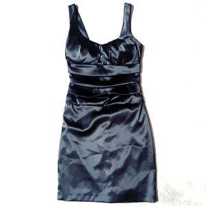 B. Darlin Solid Black Mini Cocktail Dress